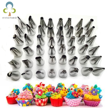 Cake Decorating 48Pcs/set Good Quality Stainless steel Icing Piping Nozzles Pastry Tips Set Cake Baking Tools Accessories GYH