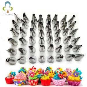Image 1 - Cake Decorating 48Pcs/set Good Quality Stainless steel Icing Piping Nozzles Pastry Tips Set Cake Baking Tools Accessories GYH