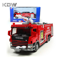 KDW Diecast 1 50 Water Fire Engine Car Fire Truck Toys For Kids Models Metal Alloy