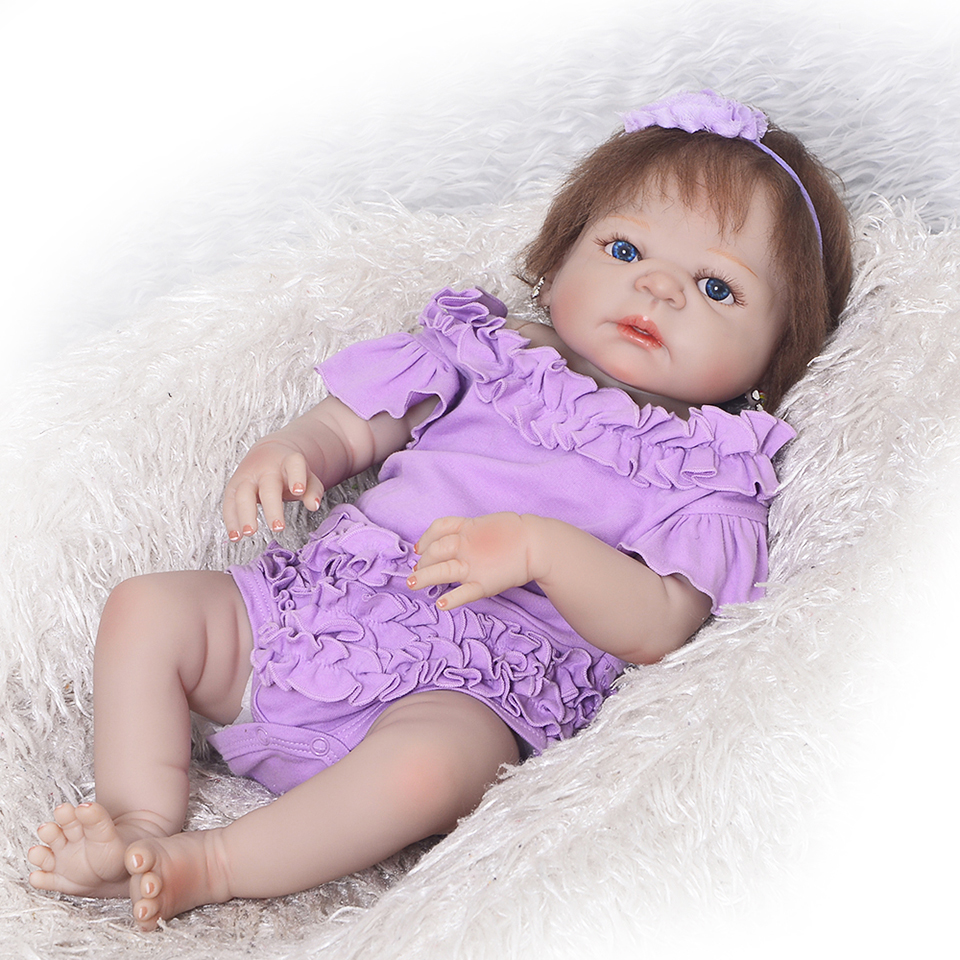 White Skin Russian Reborn Baby Girl Dolls Full Silicone Vinyl 23'' Bonecas Alive bebe Brinquedos Baby Doll For Sale Kids Gift hot sale 18 full vinyl silicone reborn american girl doll realistic baby toys as birthday gift for girls kids dolls brinquedos