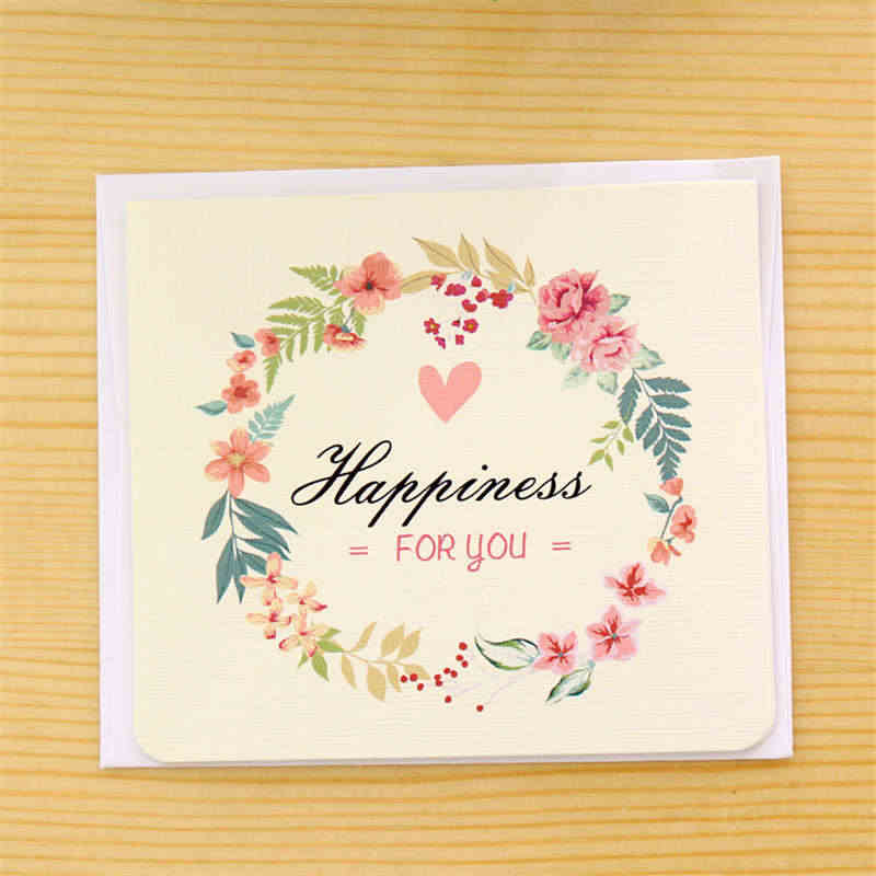 Doreenbeads Paper Card Flower Valentine S Day Wedding Invitations Party Birthday Thanks For Family Friend 1pc