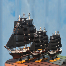 Wood black pearl Pirates Sailing Ship Model Handmade decoration furnishing articles Crafts Gift