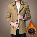2016 invierno hombres parka Chaqueta Abajo 2016 Largo de Michael de la moda chaqueta de algodón gruesa capa de la chaqueta masculina hombres salvajes 8227P80