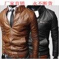 Мужская кожа мех пальто из новой фонда 2016 осенние зимы Развивать нравственность моды кожаная куртка