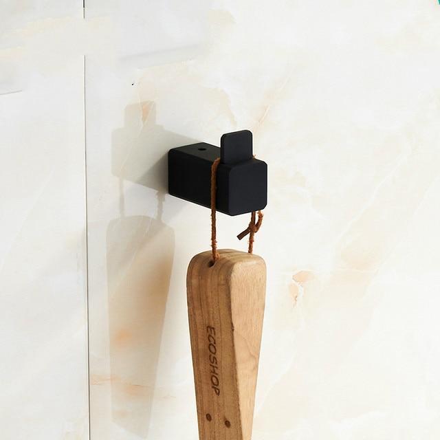 Moderne Schwarze Gummifarbe Einfache Robe Haken Badezimmer ...