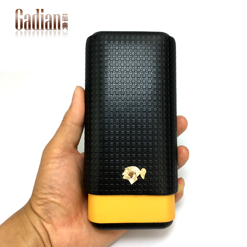 Portable cigar case Mini cigar humidor Leather case Travel humidor 3cigars holder Leather sheath Portable humidor