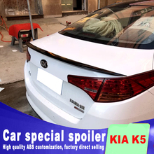 цена на 2011 2012 2013 K5 spoiler rear trunk roof wing rear spoiler for KIA Optima K5 ABS high quality primer or DIY color spoilers