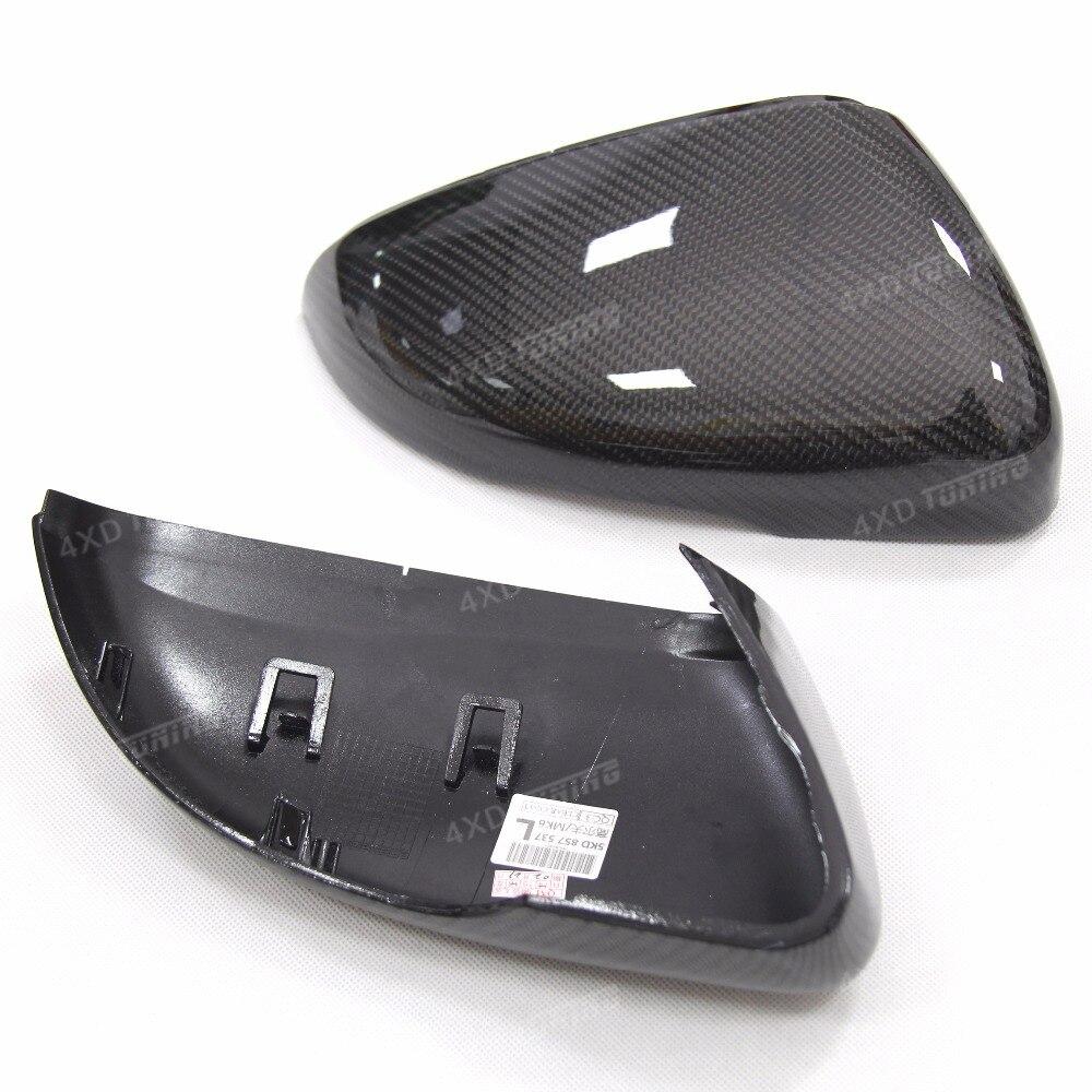 Reemplazo 1:1 para Volkswagen VW Golf 6 GTI R20 MK6 de fibra de carbono vista trasera tapas de cubierta del espejo sin carriles 2008-2012