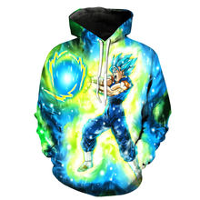 font b Anime b font Hoodies Dragon Ball Z Pocket Hooded Sweatshirts Kid Goku 3D