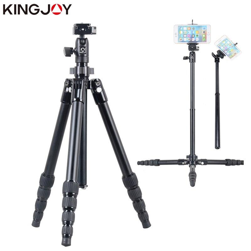 KINGJOY Officielles SF046/056 Mini trépied pour appareil photo Avec Selfie Bâton Titulaire Trépied Pour Téléphone Tripode Para Movil Gorillapod Mobile