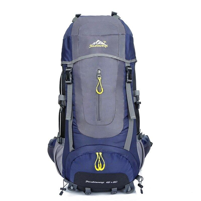 Large travel backpack 60L waterproof nylon men women climb backpack climb knapsack camp hike backpack back