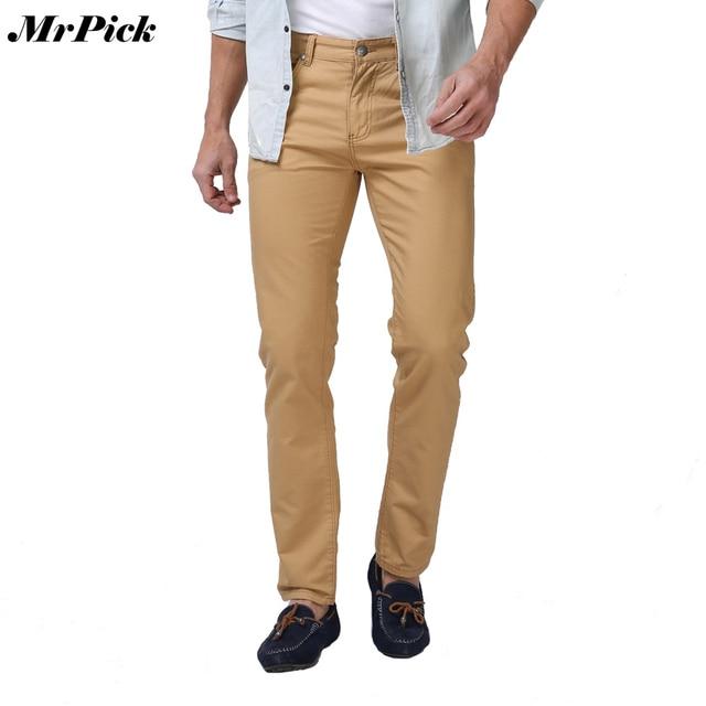 2016 Men Pants Fashion Casual Pants For Men Good Quality Khaki Black Blue White E5076