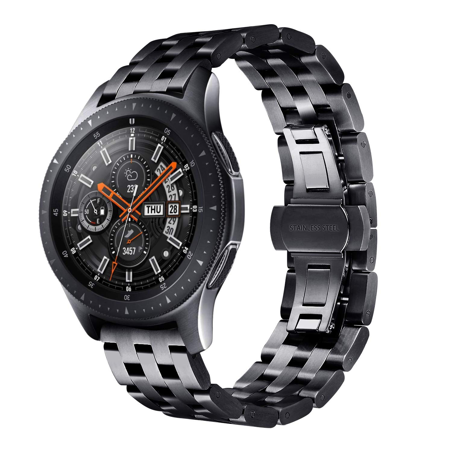 <font><b>20mm</b></font> 22mm Stainless Steel <font><b>Band</b></font> <font><b>For</b></font> Samsung Galaxy Watch 46mm 42mm <font><b>Band</b></font> <font><b>For</b></font> <font><b>Amazfit</b></font> Bip Strap Gear S3 S2 Classic Frontier Strap image