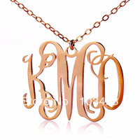 New Personalized Sterling Silver Jewelry Monogram Necklace 18k Rose Gold Initial Name Necklace 1 25 Delivery