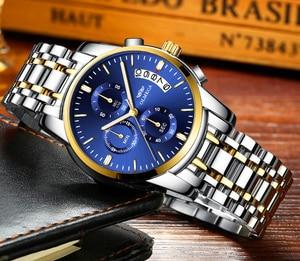 Image 3 - OLMECA Men Watch Luxury Watches Relogio Masculino 3ATM Waterproof Watches Calendar Wristwatch For Men Stainless Steel Band Saat