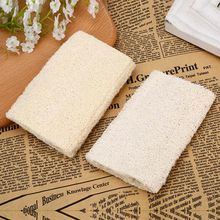 1x Natural Skin body washing pad Soft Exfoliating Loofah Body Back Sponge Strap Handle Bath Shower Massage Spa Scrubber Brush