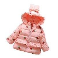 MUQGEW Bebek Yürüyor Bebek Kız Giysileri Çilek Sıcak Kış Kostüm Tops Casual Giyim Coat ABD Depo