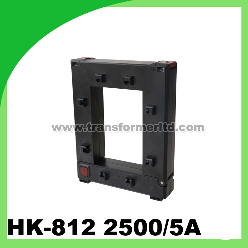 HK-812 2500/5A Split core current transformer clamp on CT clamp on current transformer q110 ratio 600 5a to 2000 5a split core current transformers 110mm for electrical metering systems