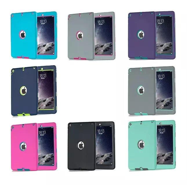 Vroče prodajno Coque torbica za iPad Air trpežna težka 3 v 1 - Dodatki za tablične računalnike - Fotografija 6