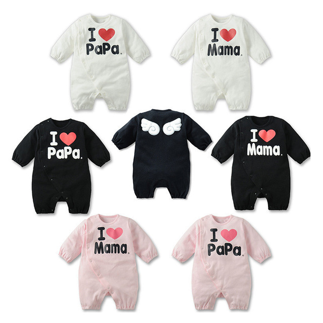 2016 I Love Mama Papa Romper Baby Girl Onesie Overalls For Boys Infant  Clothing Kids Unisex Newborn Babies Cheap Clothes China 9b1611b86