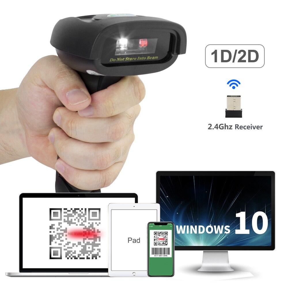 Ручной 2.4g беспроводное устройство 2D QR сканер штрих-кода с USB приемник для Мобильных Платежей компьютер Экран HW-L28W