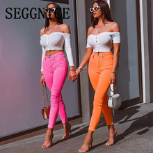 Female Trousers 2019 High Waist Stretch Slim Pencil Women Clothing Pants Sexy Tight-Fitting Fashion New