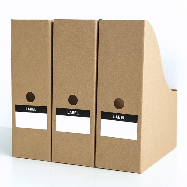 cardboard paper magazine office file bankers boxes book desk decor storage organizer holder