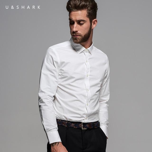 Luxury Uu0026Shark Long Sleeve Wedding White Shirt Men Social Blouse Cotton Clothing 2016 Autumn New ...