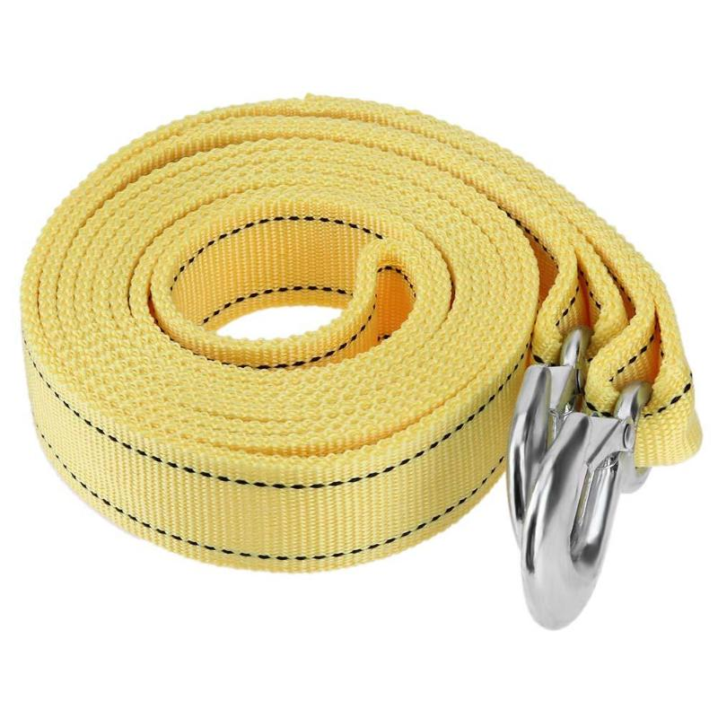 4m/13ft Tow Ropes High Strength 5 Tons Car Van Tow Rope Belt Road Recovery Pull Towing Strap Cable With Strong Metal Hook