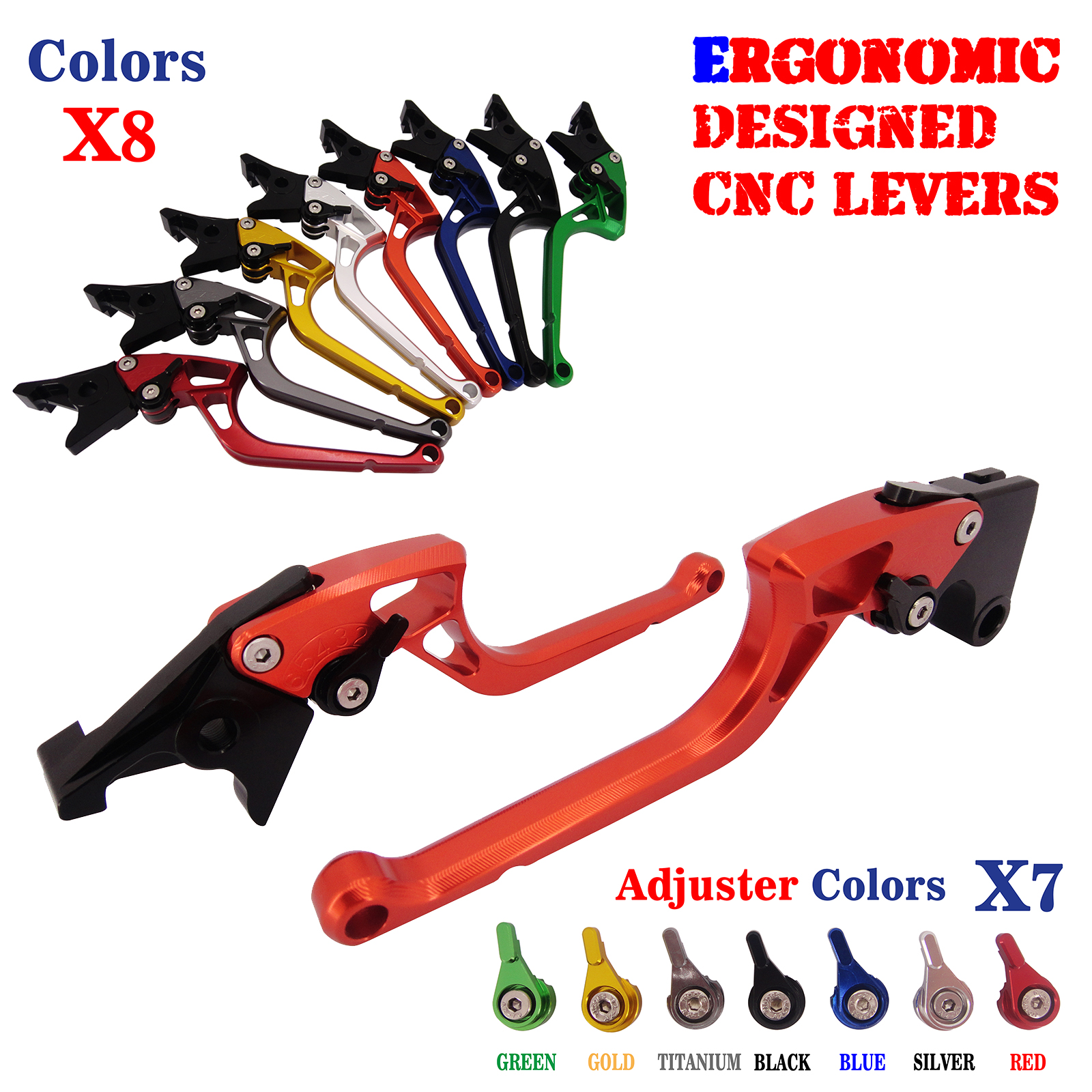 Ergonomic CNC Adjustable Brake Clutch Levers For Honda CB599/CB600 Hornet  CBR900RR NC700 NC750 S/X CBR600 F2 F3 F4 F4i 1991-07