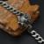 Cadera punky gótico búho cadena de los hombres pulsera brazalete plateado de metal de acero titanium inoxidable