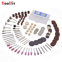 Toolfit 143Pcs Rotary Power Tool Kits For Dremel Accessories 3 0mm Shank Wood Metal Sanding Polishing