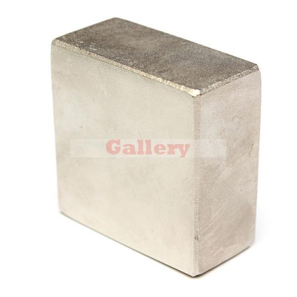 Nouveau Iman Neodimio Aimants Néodyme Disque N52 50x50x25mm Bloc Super Forte Rare Terre