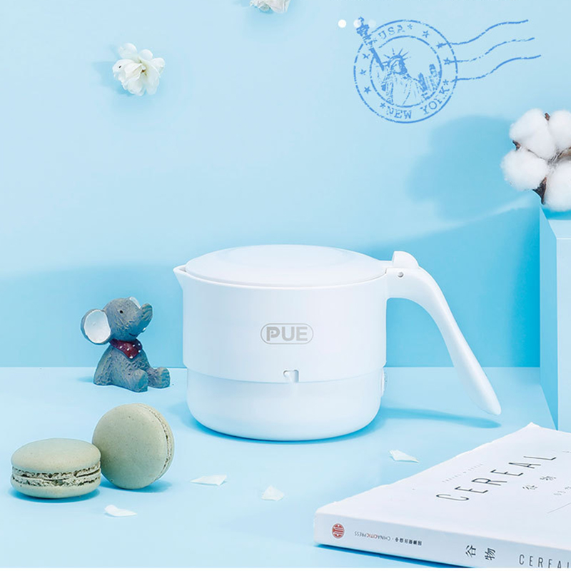 Foldable Electric Kettle Food Silicone Travel Water Kettle Portable Mini Water Boiler Home with Universal Plug