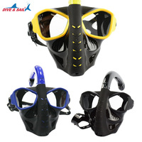 DIVE&SAIL New Adult Snorkeling Full Face Mask Swimming Diving Full Dry Antifog Snorkeling Equipment Tempered Glass Shatterproof