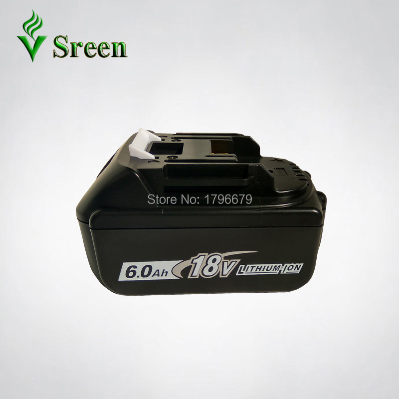 Sreen Rechargeable Lithium Ion Battery 6000mAh Replacement for Makita 18V BL1850 BL1840 BL1830 BL1860 LXT400 Power Tool Battery 18v 6000mah rechargeable battery built in sony 18650 vtc6 li ion batteries replacement power tool battery for makita bl1860