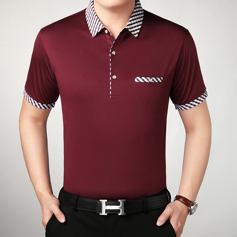 Hot Sale Men Summer 100% Cotton Slim Casual   Polo   Shirt Males Solid Color   Polo   Shirts Short Sleeve