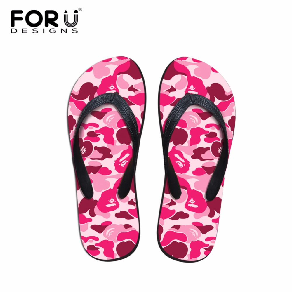 Bright Twoheartsgirl Novelty Summer Beach Slippers For Women Printing Flower Style Flip Flops Comfortable Female Ladies Flipflops Flip Flops
