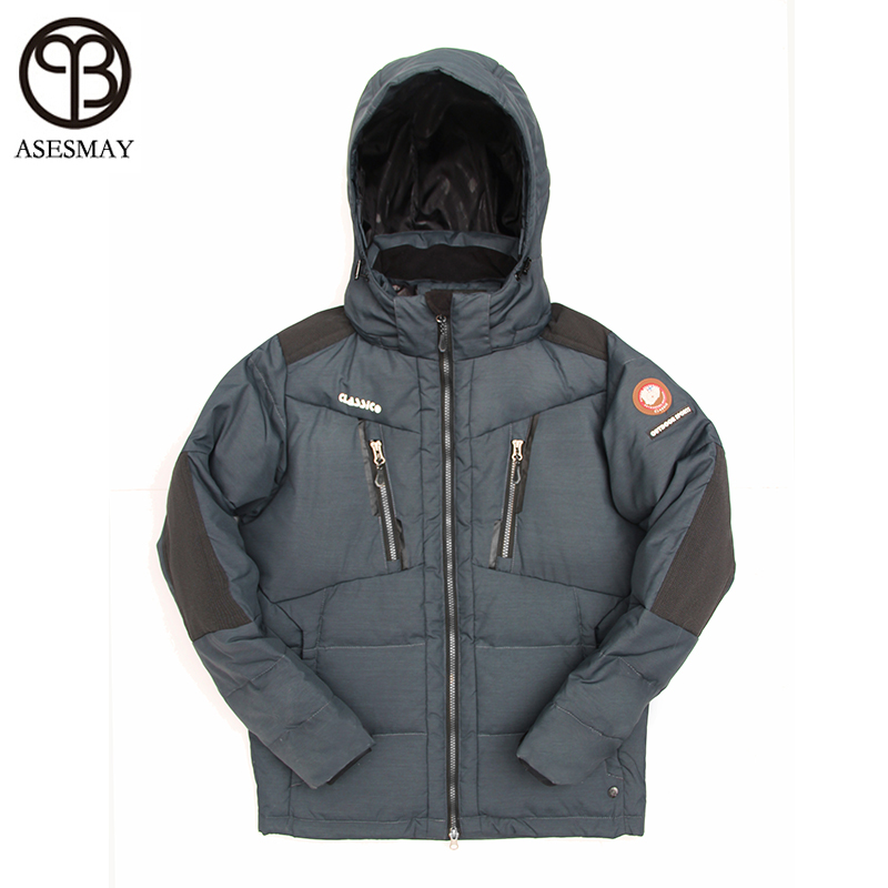 Asesmay 2017 Brand Clothing Men Winter Jackets Wellensteyn Jacket Mens Down Coat Hooded High Quality Warm Casual Snow Parkas