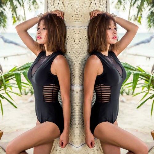 eff4e09472 Sexy Summer Women One Piece Mesh Sheer Swimsuit Bandage Bikini Push up  Backless Beach Bathing Suit Swimwear Beachwear Biquini-in Body Suits from  Sports ...