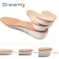 7b9df1240 ... Pés Sapatos Sola Homens mulheres. Dr Warm Leather Insoles Height  Increase Insole Pigskin Shoe Pad Inserts Foot Care Pad Shoe Accessories