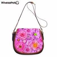 WHOSEPET Palm Tree Messenger Bag For Girls Pu Shoulder Bags Casual Sling Bag Causal Flowers Small Bolsas femininas Crossbody Bag