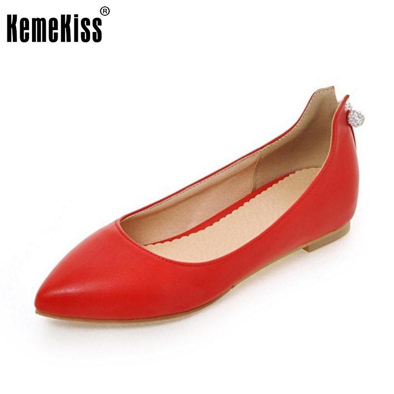 New Spring Women Flats Elegant Rhinestone Fashion Flat Slip-on Shoes Women Sexy Pointed Toe Ladies Work Casual Shoes Size 33-45 beyarne spring summer women moccasins slip on women flats vintage shoes large size womens shoes flat pointed toe ladies shoes