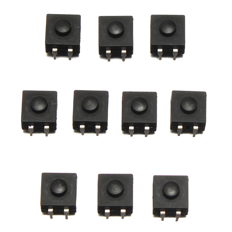 10Pcs DIP PCB Mini Latching Tactile Tact Push Button Switch 12x12x9mm New Arrival 1 x 16mm od led ring illuminated latching push button switch 2no 2nc