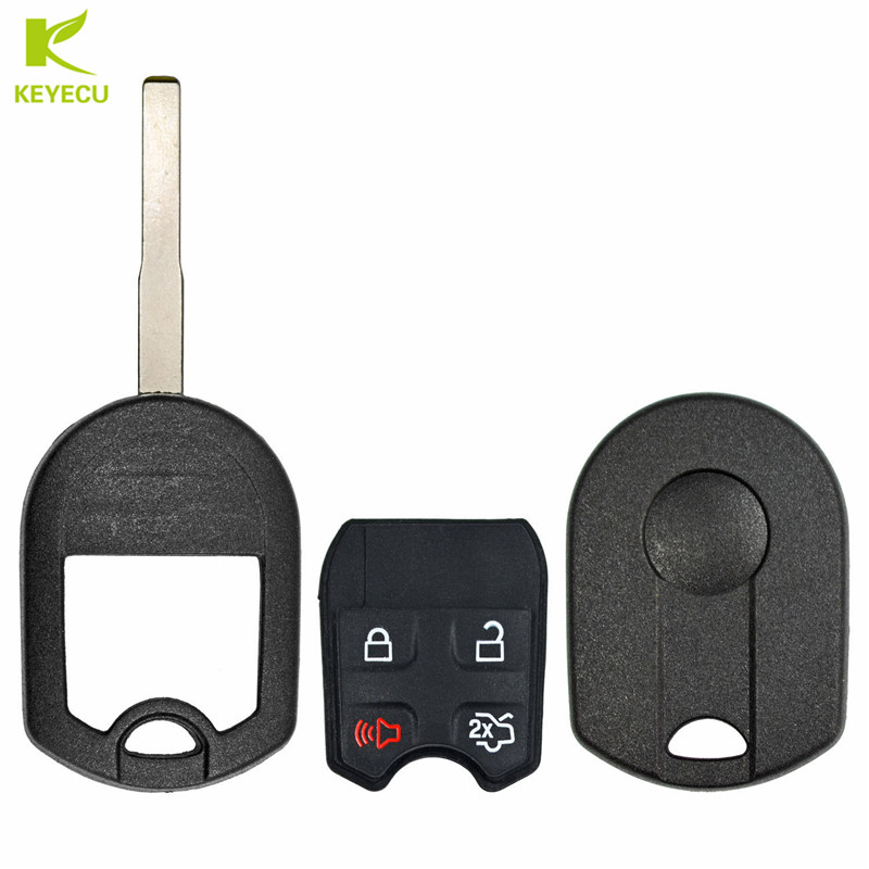 2 Fits Ford Lincoln Keyless Key Remote High Security Fob Case Pad Shell 4 Btn
