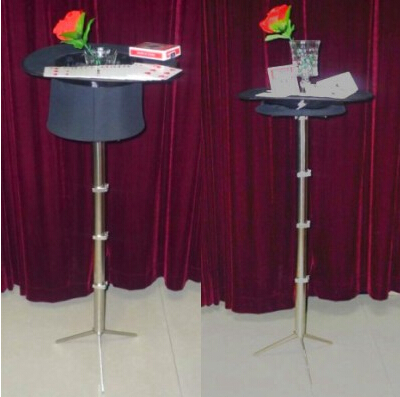 Invisible Table stand W/Black Top Hat- Magic trick,illusions,magic table,close up,comdy,props magic poker box magic props black