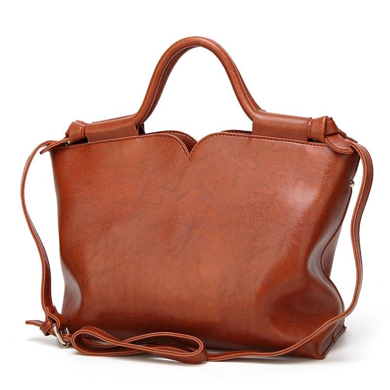 2018 Special Offer 100% Genuine Leather Shoulder Bag Casual Handbag Female Shell Vintage Hobos Strap Top-Handle Messenger Bag