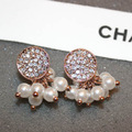 Fashion Europe Pretty Elegant luxurious high quality Special design simulated pearl Women earrings Gifts for friends