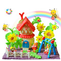 100~1000PCS Creative Starch Miou Magic Corn Plasticine Blocks Baby Kid Colorful DIY Building Decoration For Children Gift HG0067