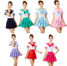 Sailor Suit Cosplay Costumes Student School Uniforms Multiple Colors Cosplay Costumes Halloween Carnival Party Women Cosplay new lovelive sunshine cosplay costumes ohara mari swimwear cosplay costumes halloween carnival party women cosplay costumes